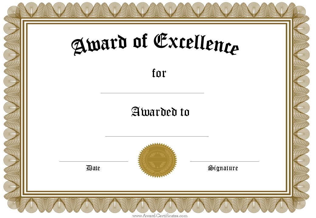 Awards certificate pertamini awards certificate yelopaper Images
